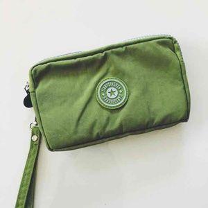 NWT Green Fabric 3-Part Clutch
